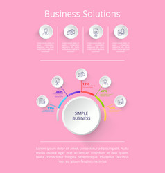 business solutions pink on vector image