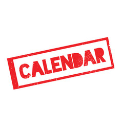 Calendar rubber stamp vector