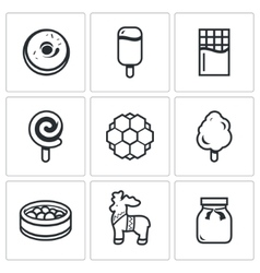 Candy Shop Icons vector image vector image