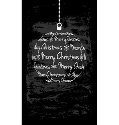 Christmas monochromatic card vector