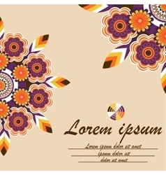 Cover exercise book with floral ornament mandala vector image vector image