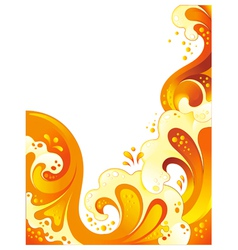 drink wave background vector image vector image