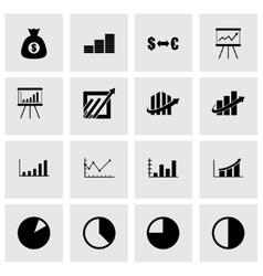 Economic icon set vector
