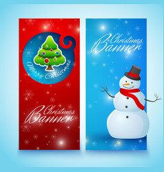 festive christmas vertical banners vector image vector image