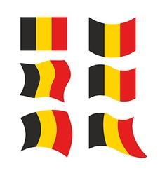 Flag of belgium set national flag of belgian state vector