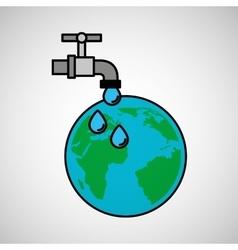 Globe world water eco environment concept design vector