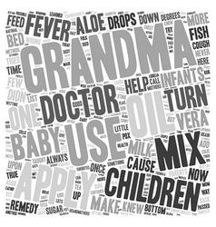 Grandma s herbal remedies for infants and children vector