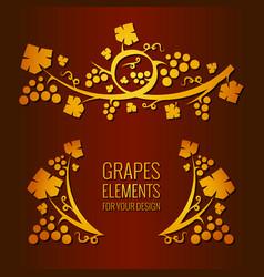 Grapes elements vector