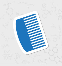 Hairbrush icon vector