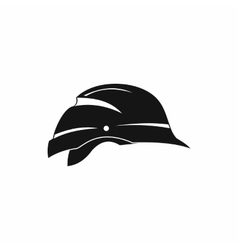 Hardhat icon simple style vector