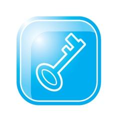 key icon on bluekey icon on blue vector image