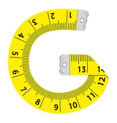Letter g ruler icon cartoon style vector
