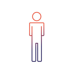 line man pictogram icon flat vector image vector image