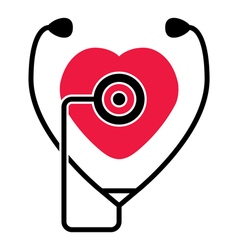 medical check of heart health and heartbeat vector image vector image