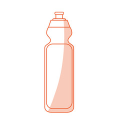 Orange shading silhouette cartoon sports bottle vector