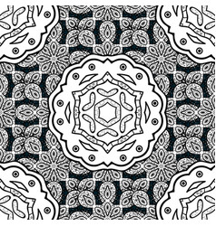 Oriental ornament in the style of baroque vector