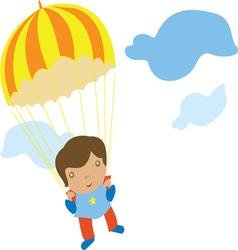 Parachute kid vector