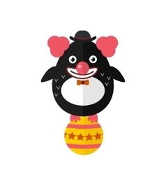 Penguin clown animal character vector