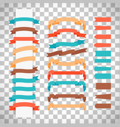 retro style ribbons on transparent background vector image vector image