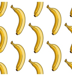 Seamless pattern of yellow banana vector image vector image
