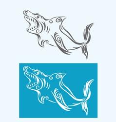Shark tribal vector