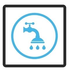 Shower tap framed icon vector