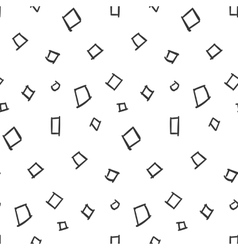 Squares Simple Seamless Pattern on White vector image