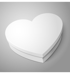White heart shape box isolated on gray background vector image vector image