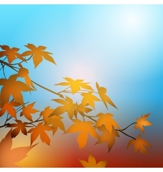 Autumn concept with maple leaves vector