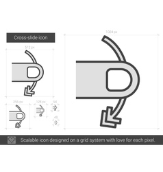 Cross-slide line icon vector
