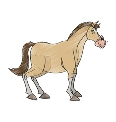 Isolated horse cartoon design vector