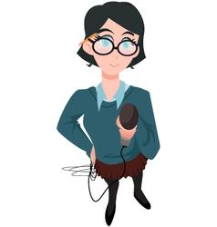 journalist vector image