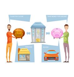 achieving financial goals concept vector image