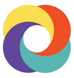 template abstract logo diaphragm camera vector image