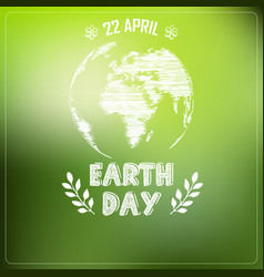 Earth day of background a shape typography vector