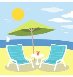 lounge chairs vector image