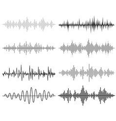 Black music sound waves audio technology vector