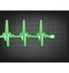 heart cardiogram vector image
