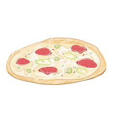 Fresh pizza vector