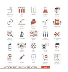 Medical and health care icons set 04 vector