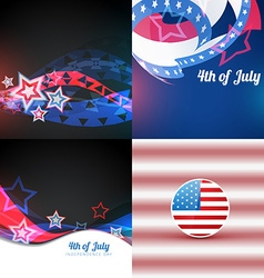 American independence day flag design design vector