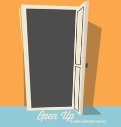 Open the door to success or new opportunities vector