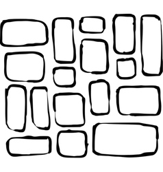 Hand drawn round corner rectangle and square shape vector