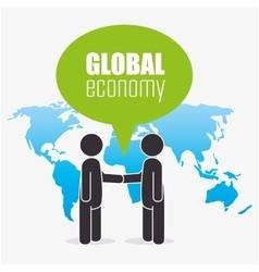 Global economymoney and business vector image