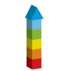 Colorful tower vector