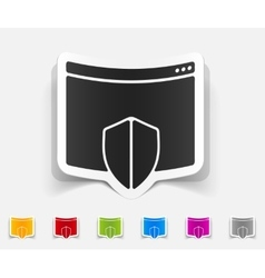 Realistic design element internet security guard vector