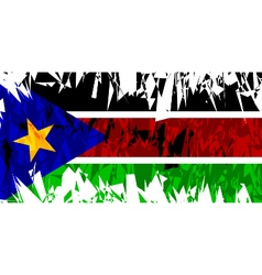 Flag of South Sudan vector image