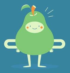 Happy pear smiling vector