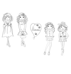Girlfashion1 07 vector