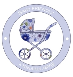 Baby friedly sticker vector image
